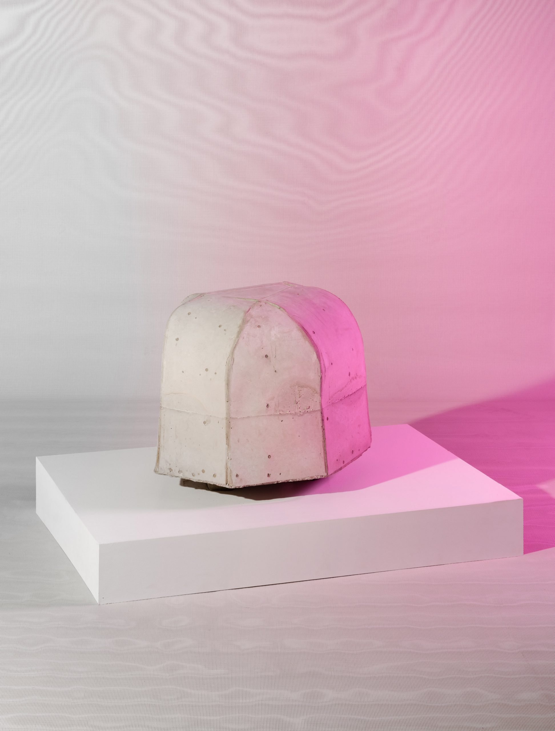 Concrete piece at Metabolic Processes for Leftovers exhibition