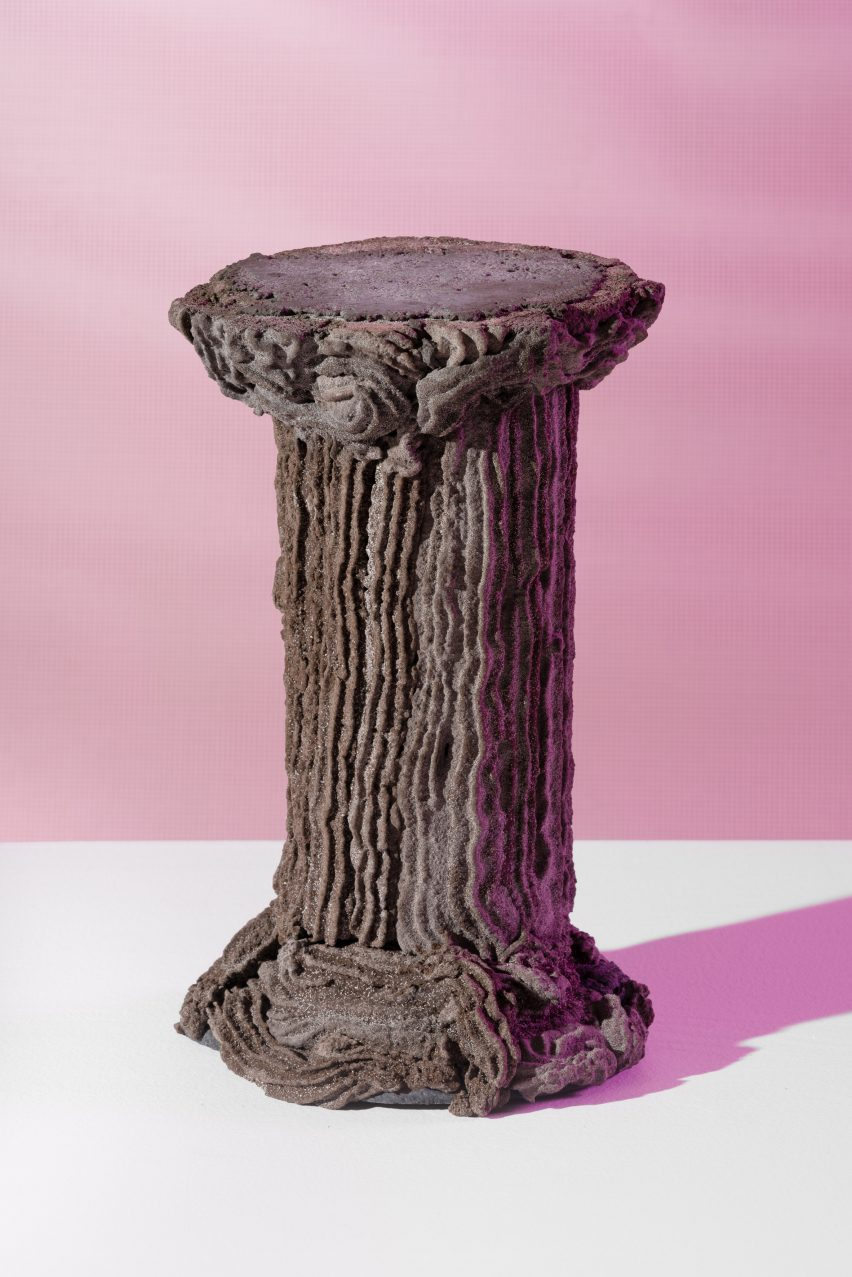 Pedestal by Kajsa Willner for Metabolic Processes for Leftovers exhibition