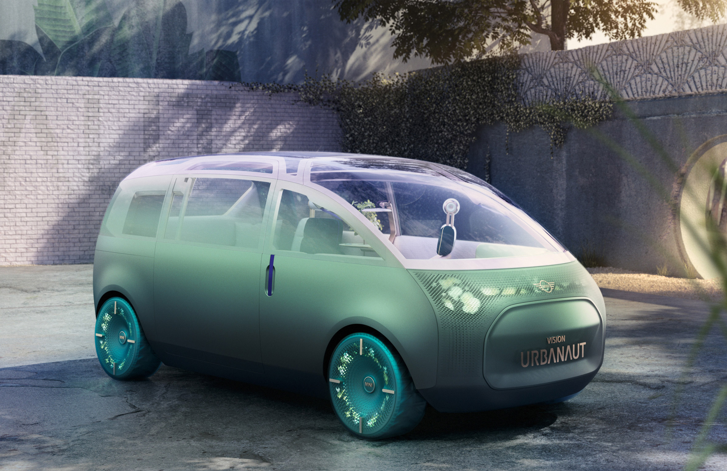 The exterior of the MINI Vision Urbanaut concept vehicle