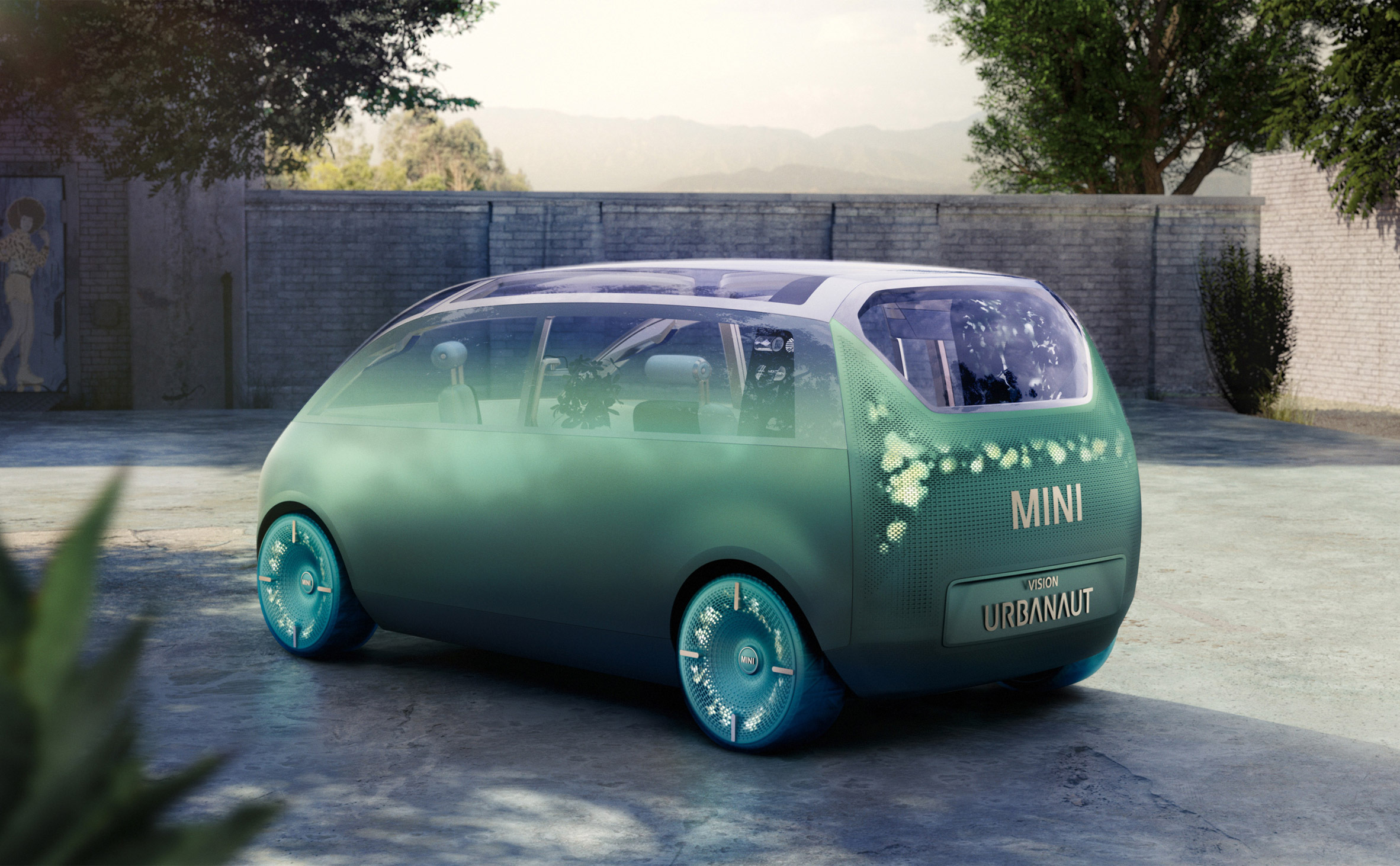 Exterior view of the MINI Vision Urbanaut concept vehicle