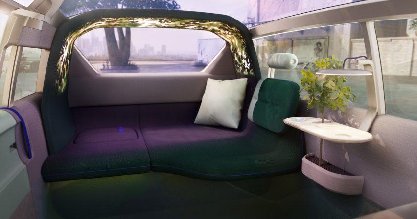 Interior of the MINI Vision Urbanaut concept vehicle