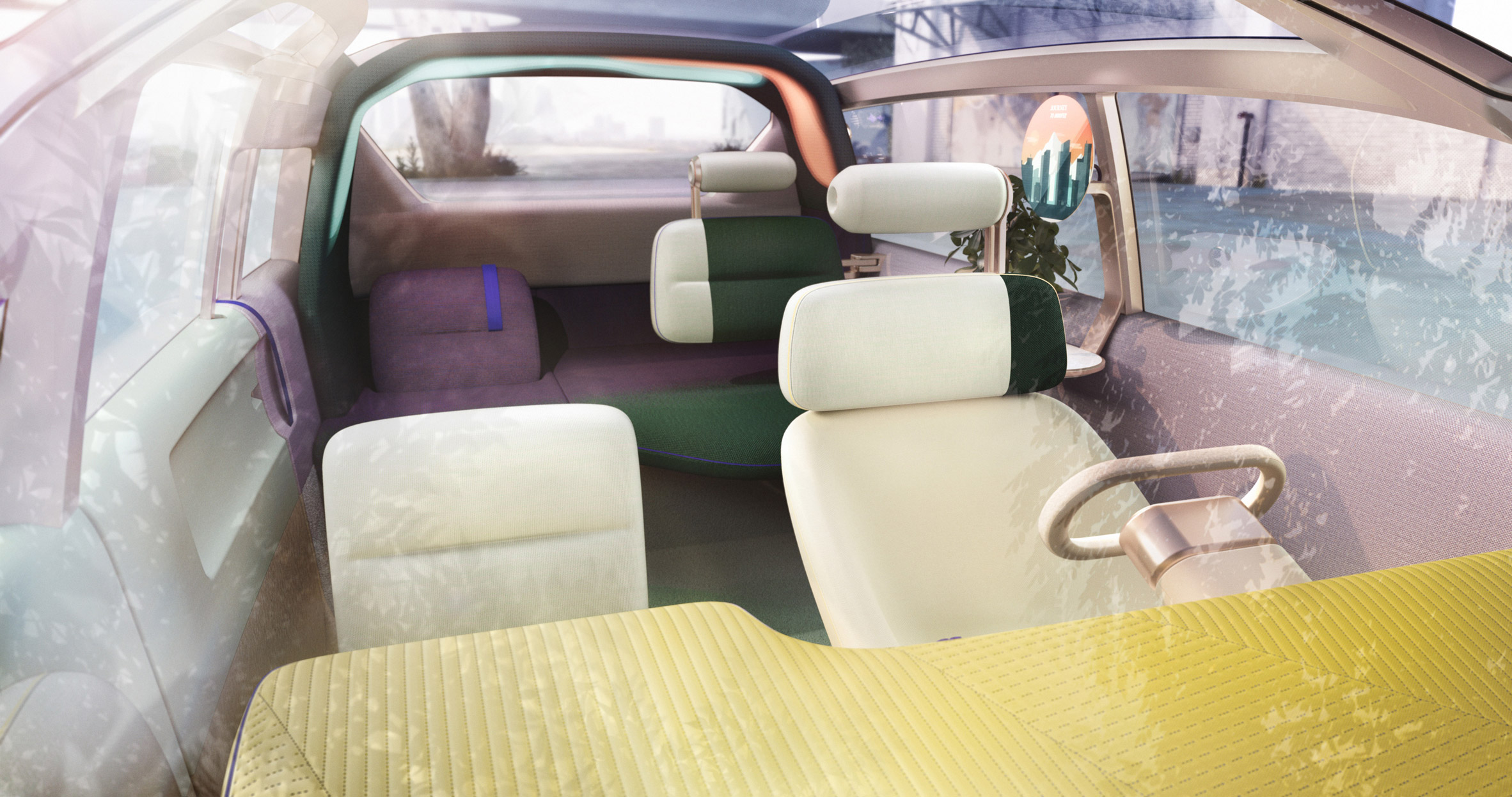 Interior of the MINI Vision Urbanaut concept vehicle