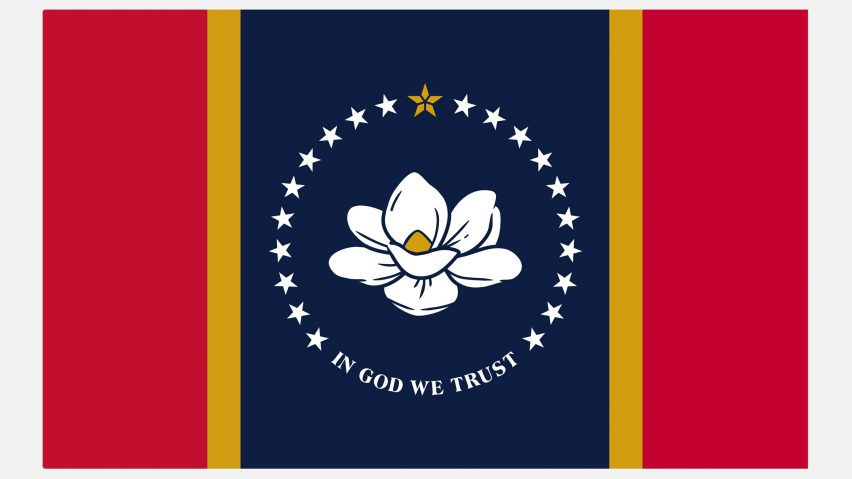 In God We Trust flag for Mississippi