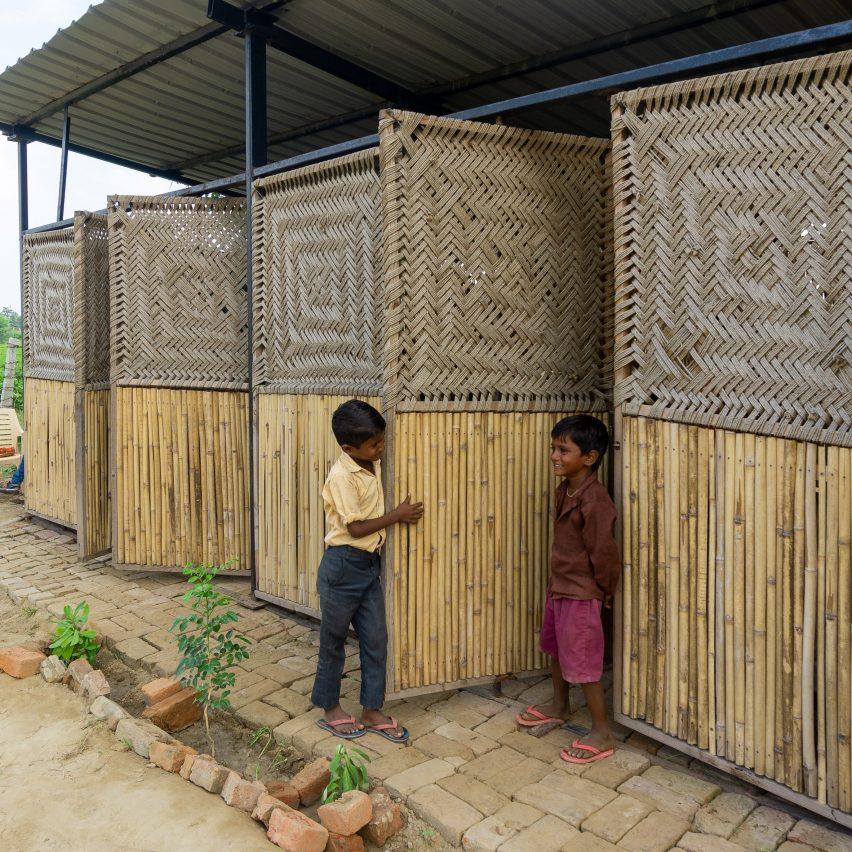 Bamboo clad school in Delhi