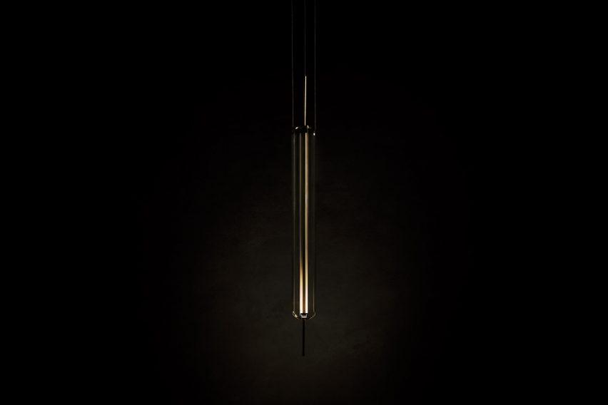 Morgan Ruben's Luminosa lamp in the dark