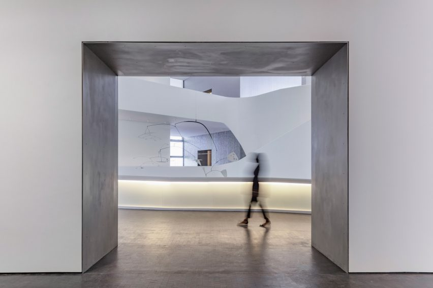Interior of Nancy and Rich Kinder Building by Steven Holl Architects