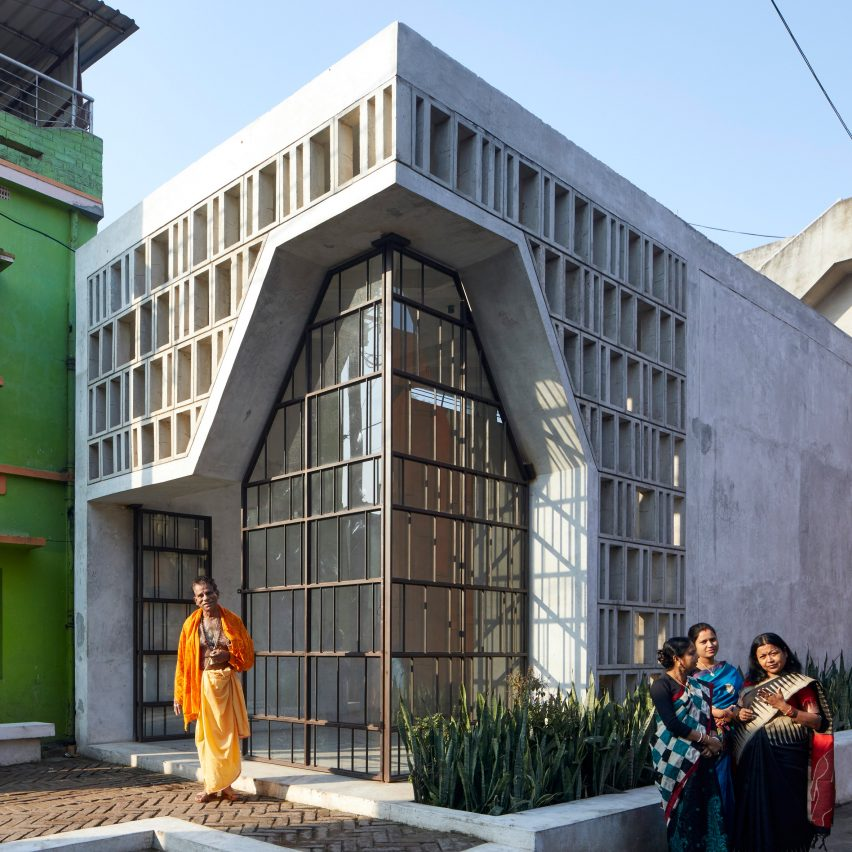 Concrete Hindu temple