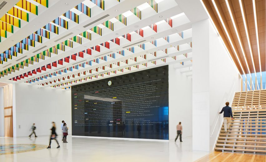 Lobby in the National Museum of the United States Army by SOM