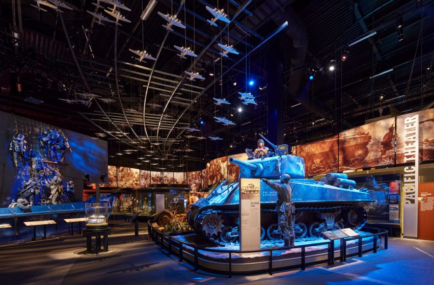 Exhibition space in National Museum of the United States Army by SOM