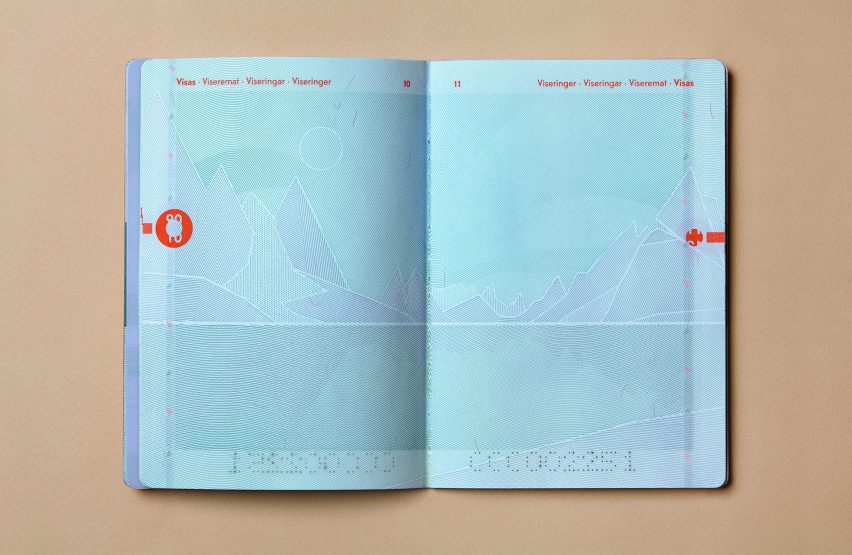 A double-page spread of the passport