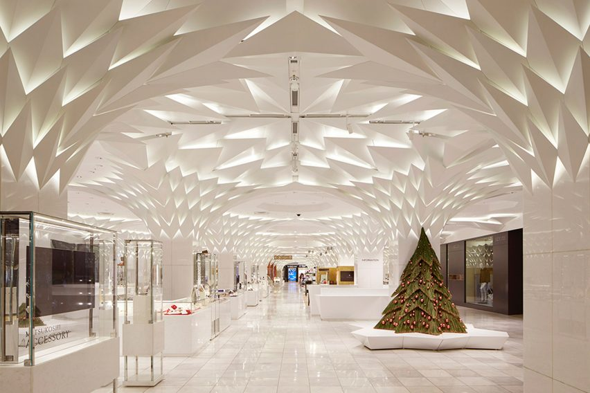 Interior renovation of Nihombashi Mitsukoshi by Lighting Planners Associates