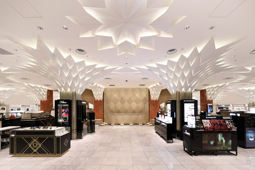 Shop floor of Nihombashi Mitsukoshi by Lighting Planners Associates