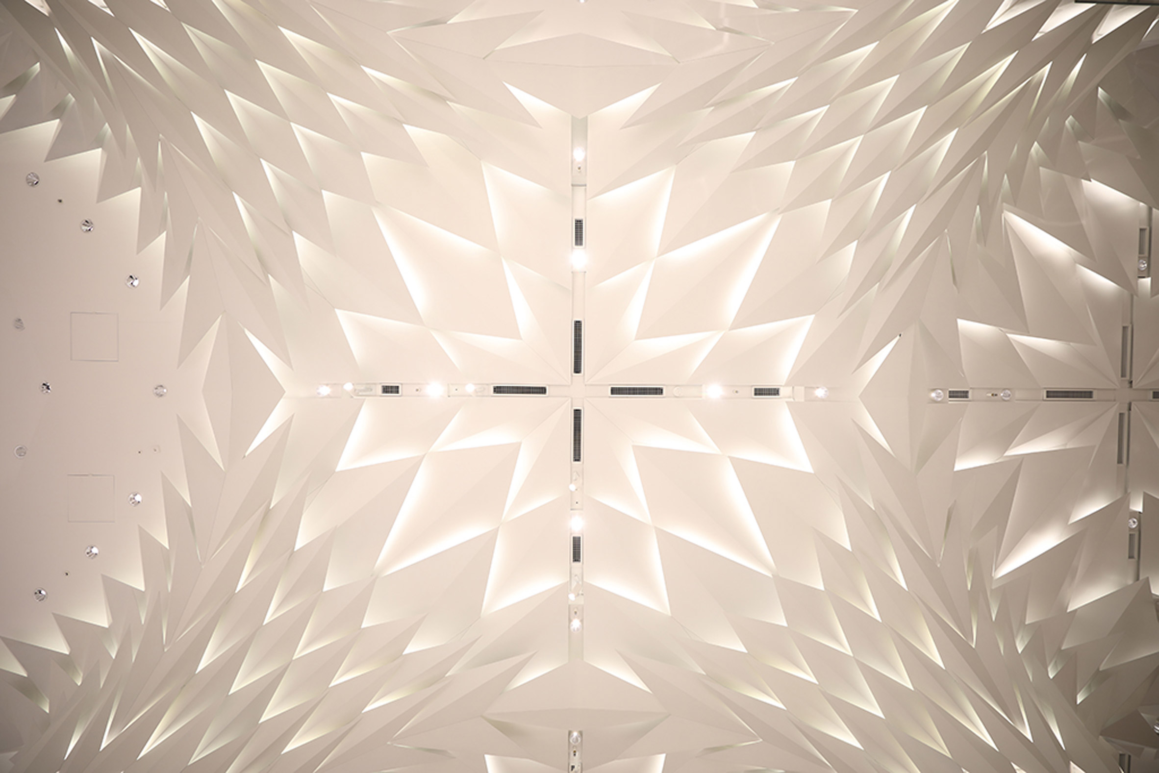 Ceiling of Nihombashi Mitsukoshi by Lighting Planners Associates