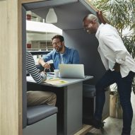 Nook Pod is a gabled workspace