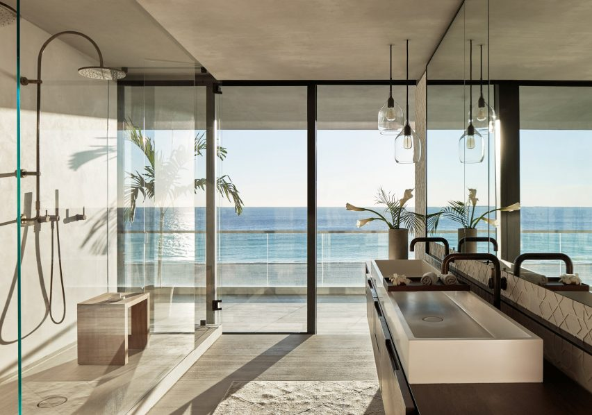 Bathroom of Ocean Drive apartment by MW Works in Miami, Florida