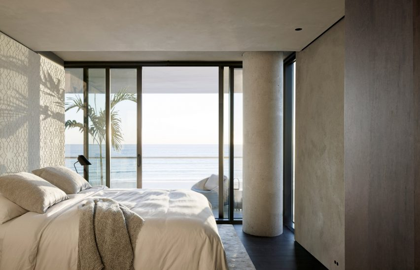 Master bedroom of Ocean Drive apartment by MW Works in Miami, Florida