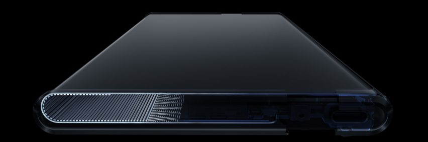 Warp track of the OPPO X 2021 expanding smartphone