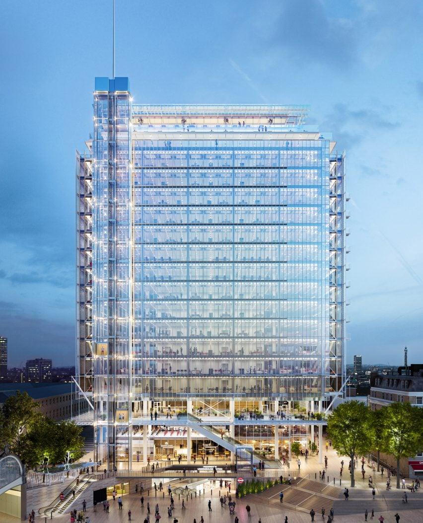 Paddington Square, designed by Renzo Piano