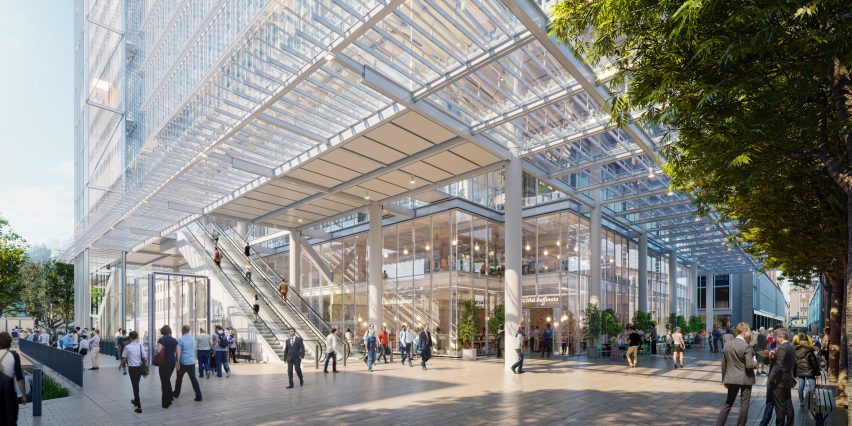 Paddington Square, designed by Renzo Piano