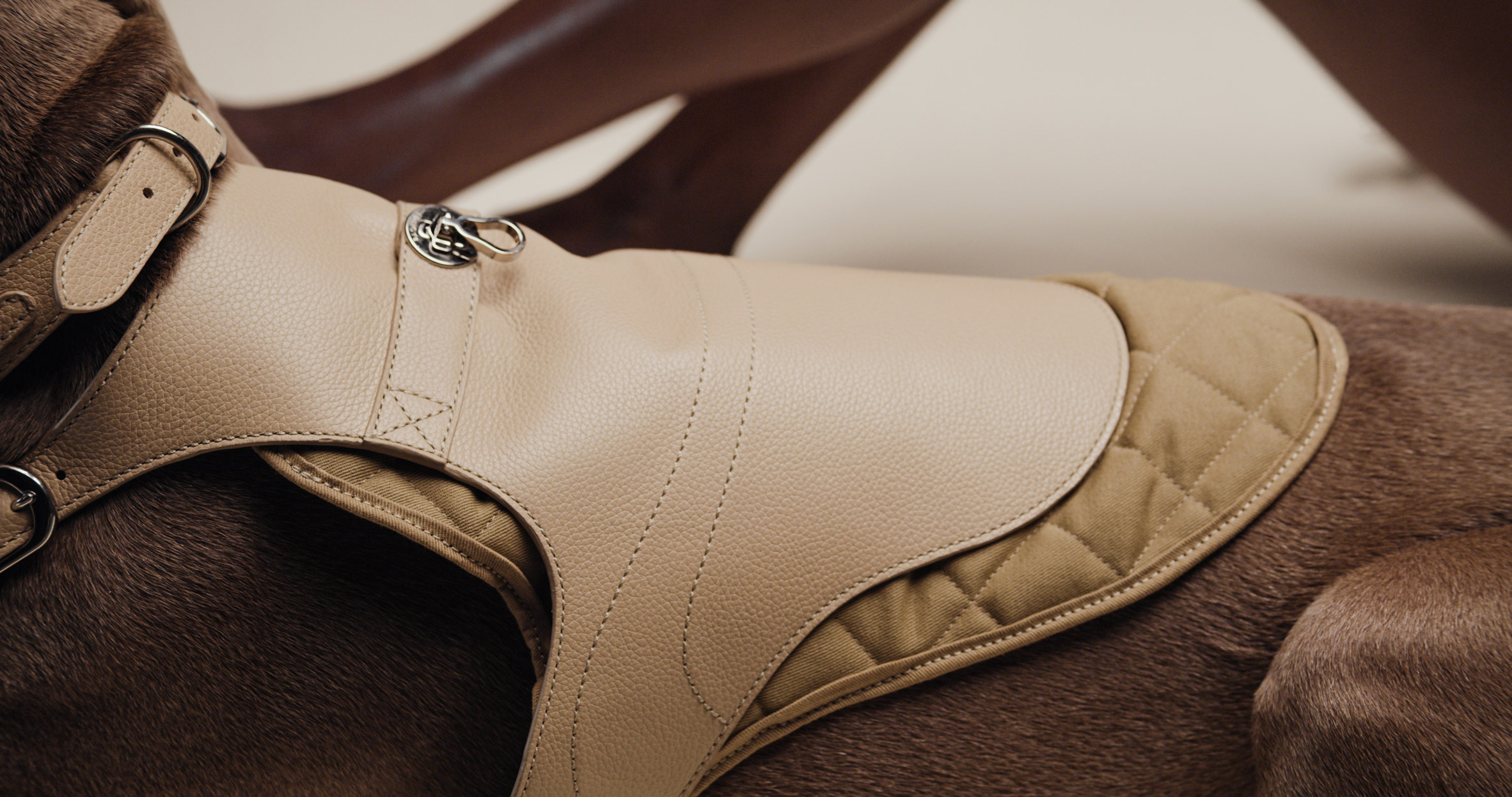 The Babbi harness and quilted lining