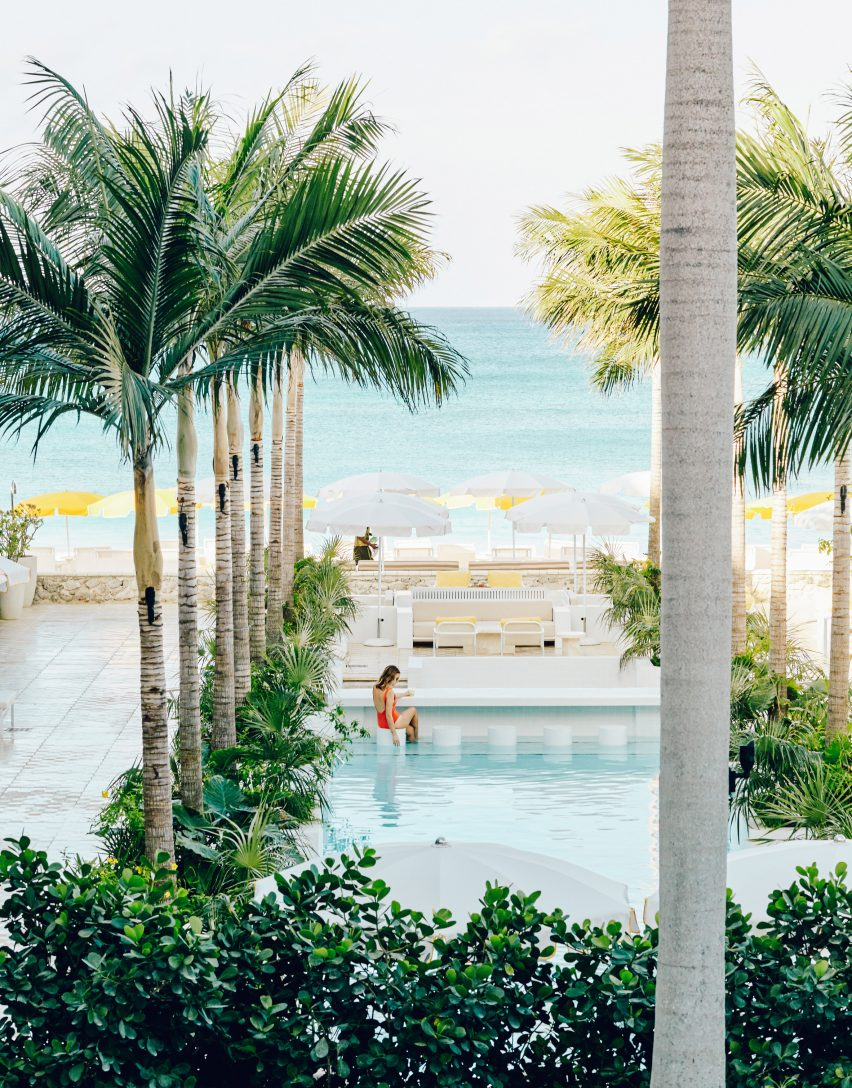 Swimming pool in Palm Heights Grand Cayman by Gabriella Khalil