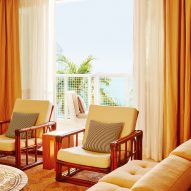 Grand Cayman beach hotel Palm Heights is styled like a 1970s Caribbean mansion