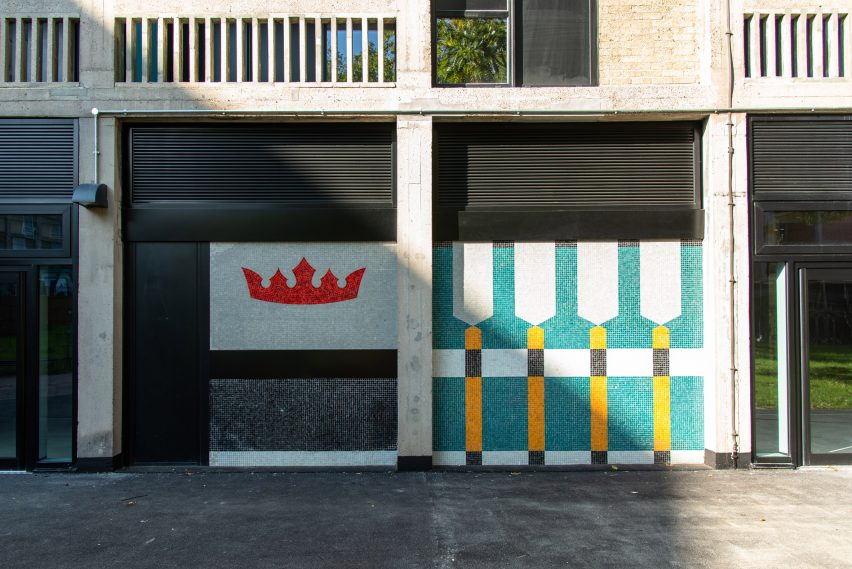 Glass mosaic Béton House at Park Hill by Whittam Cox Architects
