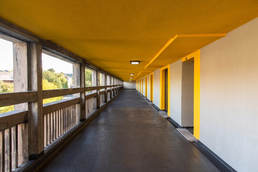 Walkways of Béton House at Park Hill by Whittam Cox Architects