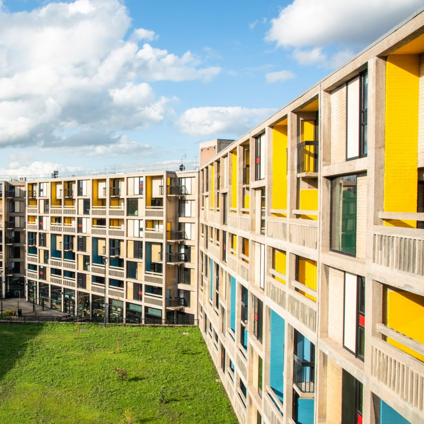 Whittam Cox Architects creates colourful student housing for Sheffield's Park Hill