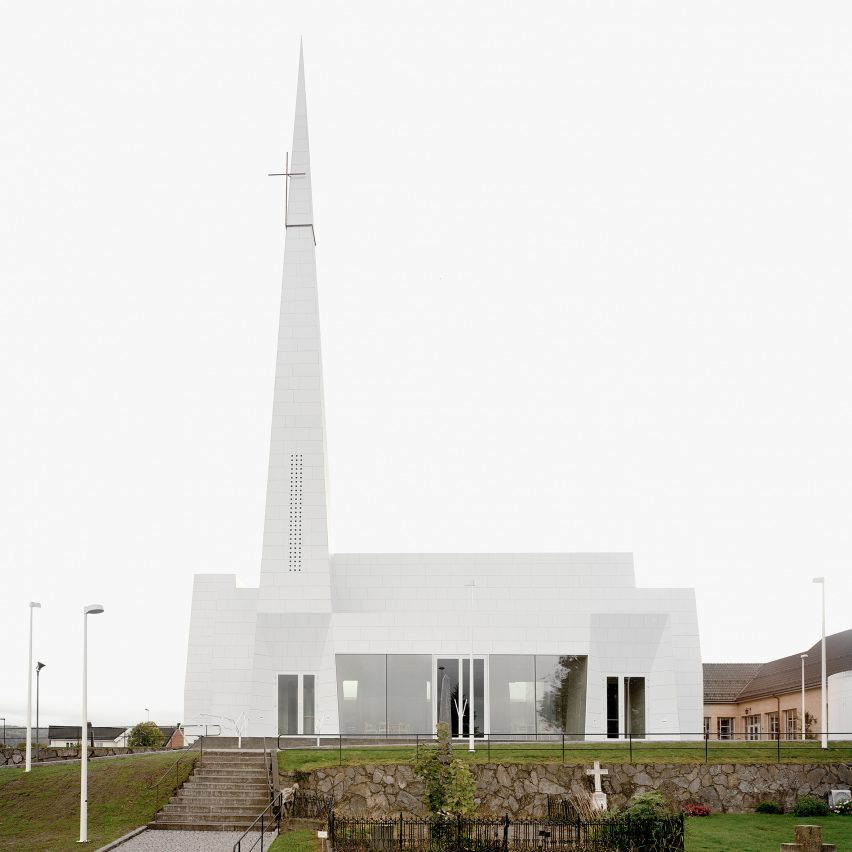 Porcelain-clad church