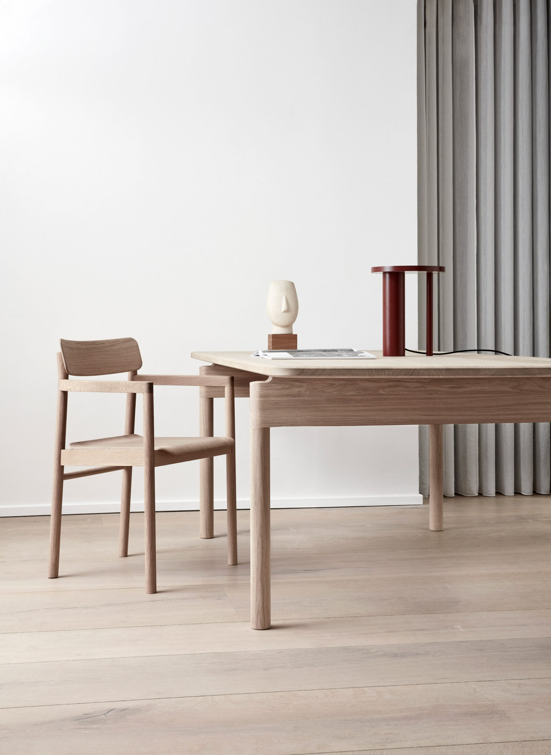 Post Chair and Post Table by Cecilie Manz for Fredericia's Post Collection