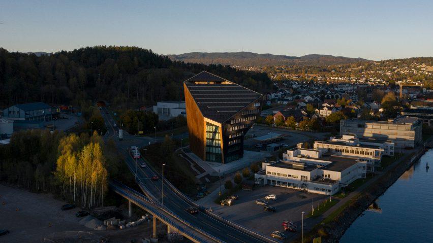 Exterior of Powerhouse Telemark by Snøhetta in Porsgrunn, Norway