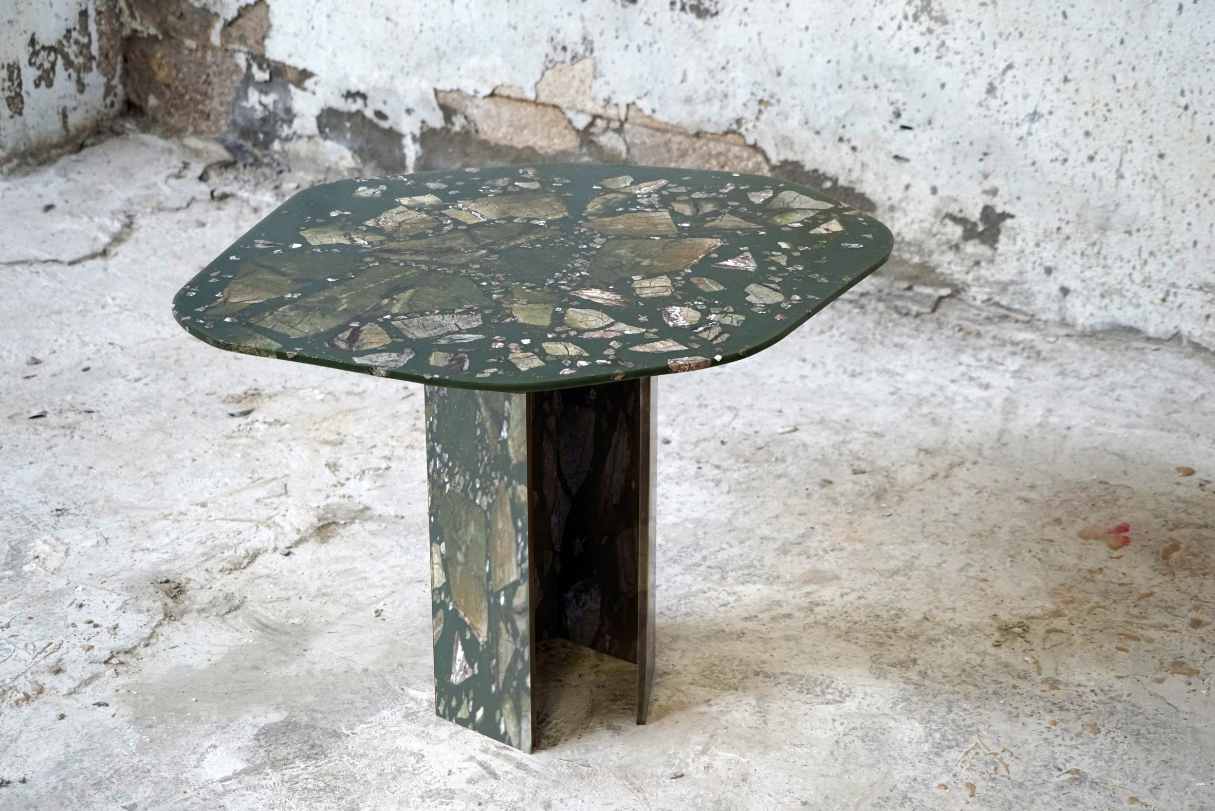 A small table from the Reconciled Fragments collection by T Sakhi