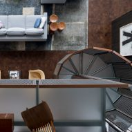 Loft detail of Residence for Two Collectors by Wheeler Kearns Architects