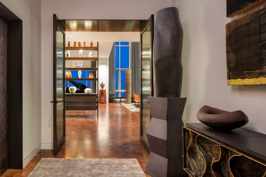 Foyer of Residence for Two Collectors by Wheeler Kearns Architects