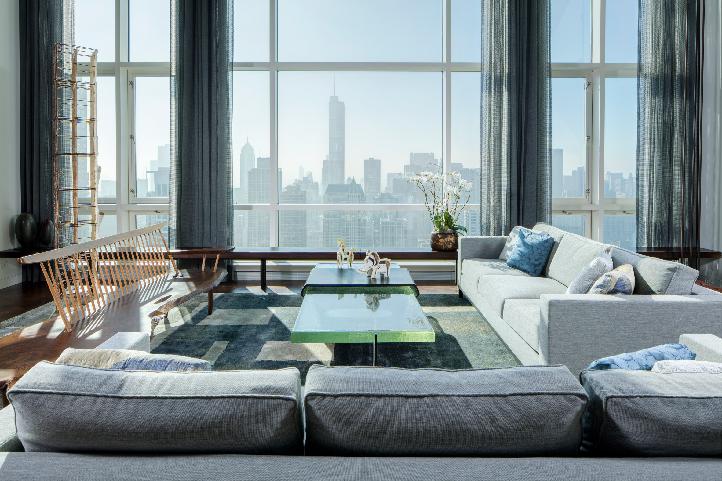View from Residence for Two Collectors by Wheeler Kearns Architects