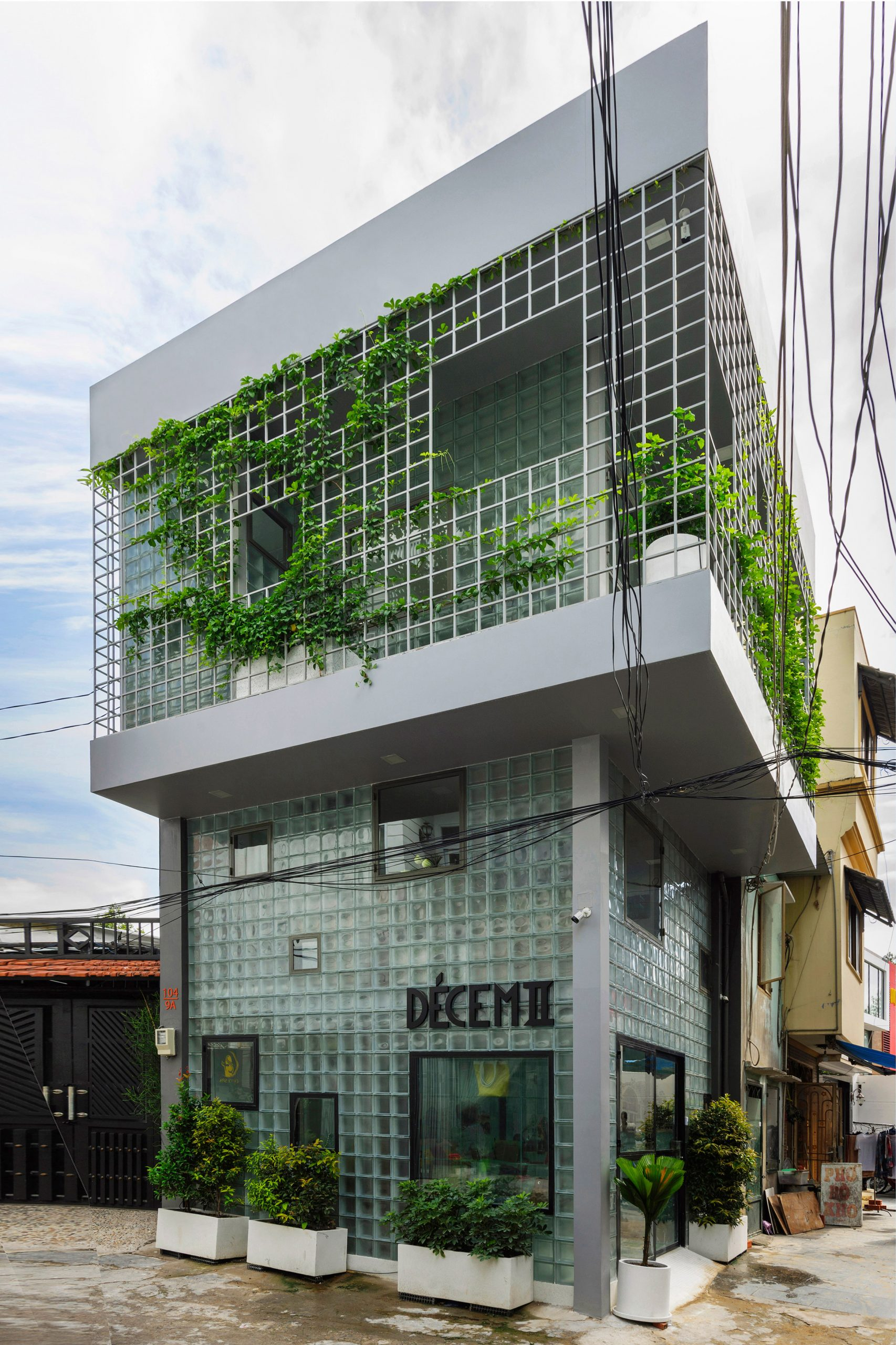Glass bricks walls in Ho Chi Minh City