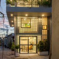 ROOM+ Design & Build replaces walls of house in Ho Chi Minh City with glass bricks
