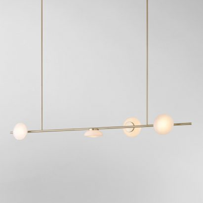 Horizontal Ceto chandelier by Ross Gardam