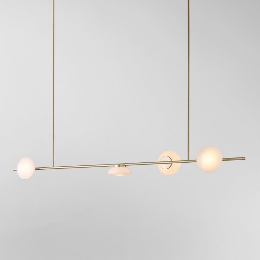 Horizontal Ceto chandelier by Ross Gardam