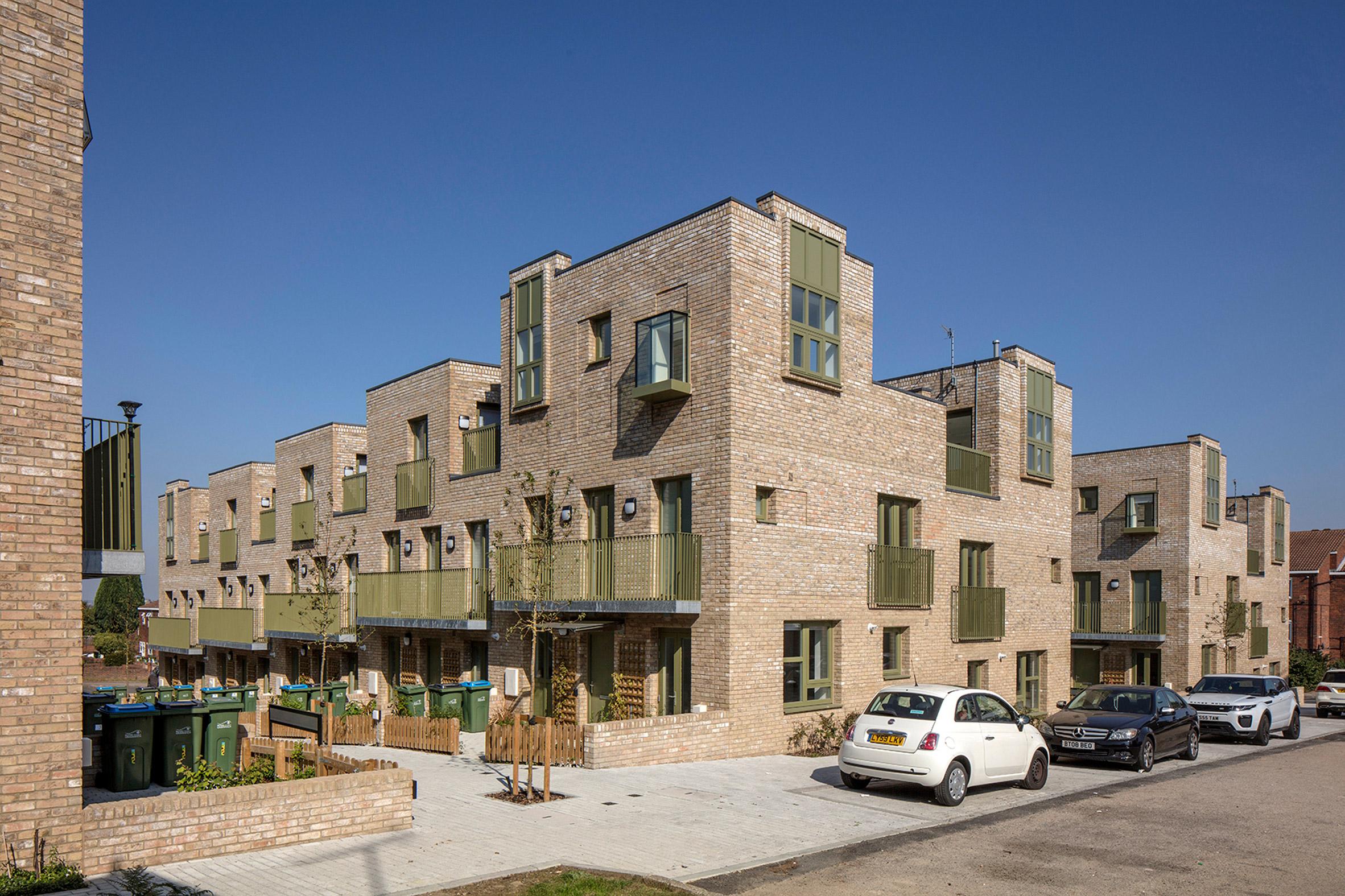 Brick housing in London