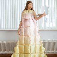 Santa Kupča creates duvet-style dresses for video calling during lockdown
