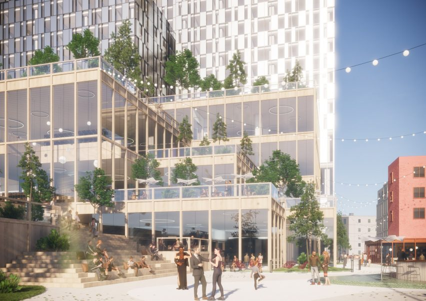 Retail spaces in Henning Larsen's Seoul Valley proposal for South Korea