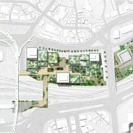 Site plan for the Seoul Valley proposal in South Korea by Henning Larsen