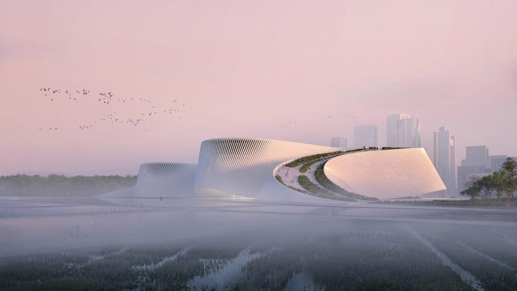 Shenzhen Natural History Museum has meandering path that mimics flow of rivers