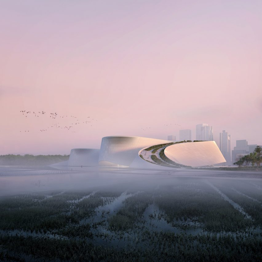 Shenzhen Natural History Museum has meandering form that mimics flow of rivers