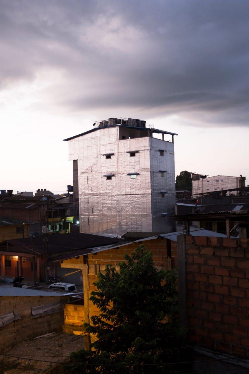 Aluminium-clad homes in Quibdo