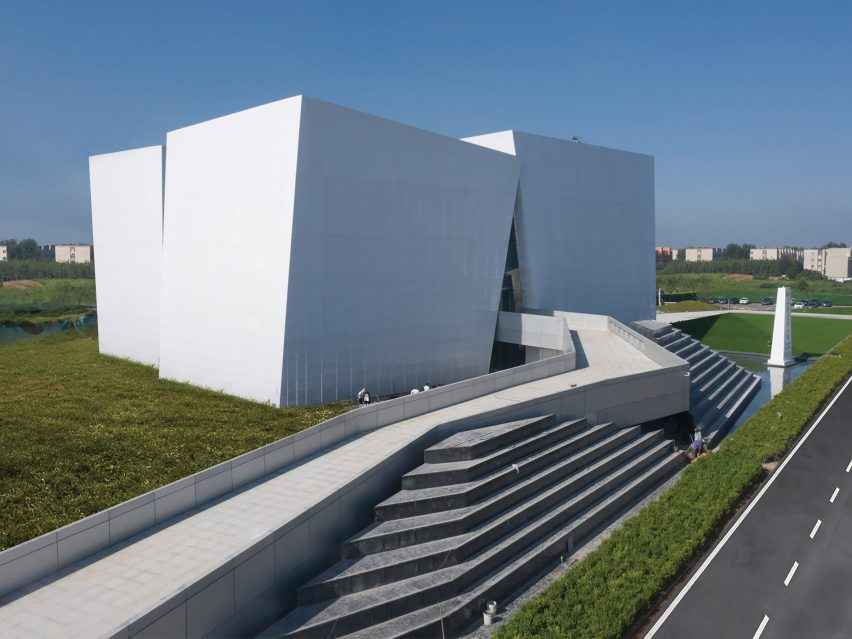 Exterior view of Shuifa Geographic Information Industrial Park Exhibition Center by AOE in China