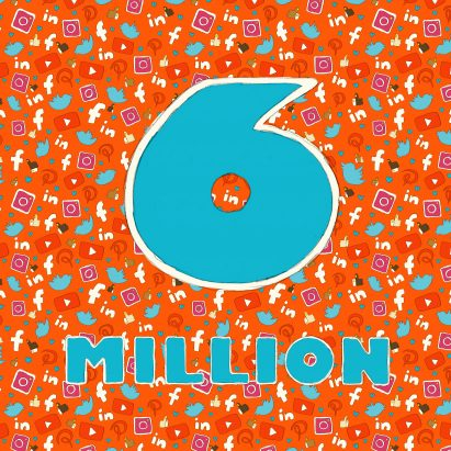 dezeen now has six million followers on social media