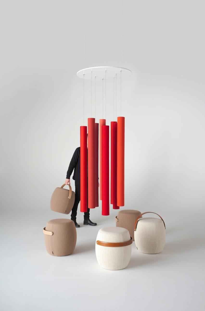 Andrea Ruggiero's Soundsticks in red